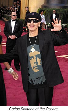 Carlos Santana the red carpet at the 77th Academy Awards Sunday, Feb. 27, 2005, in Los Angeles.