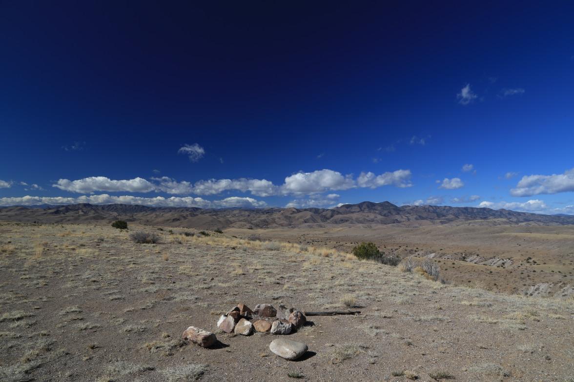campsite on mesa near Garcia Falls-San Mateo Mountains-Monticello-NM