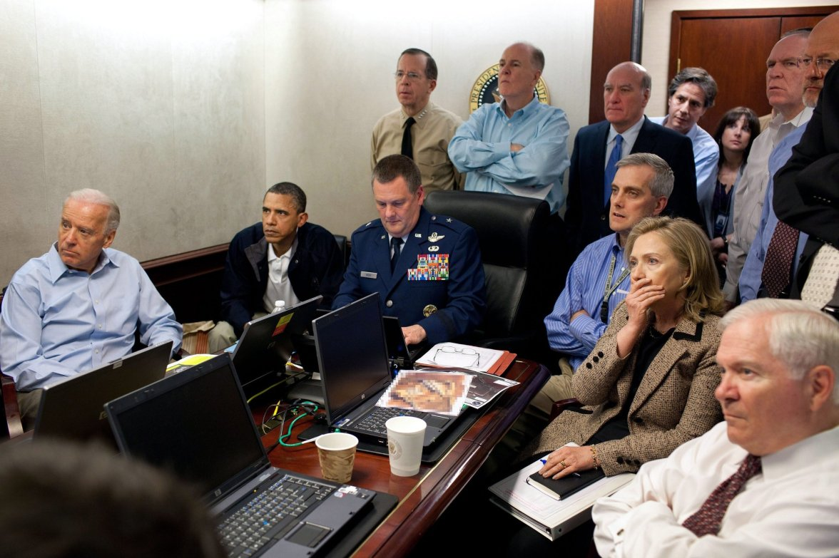 President Obama watches raid on bin Laden-aka Geronimo