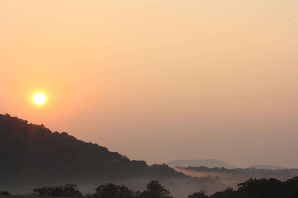 Explore Park main road-sunrise-Sep 20 (6)