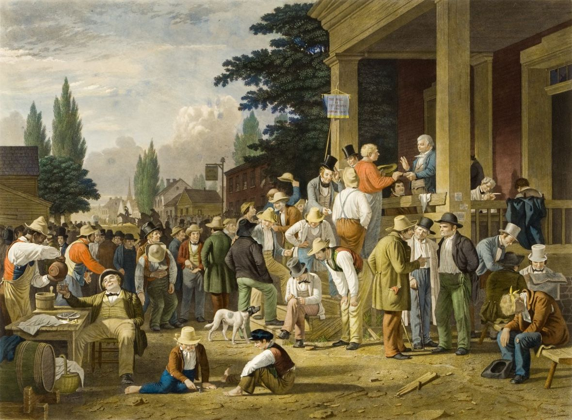 the-county-election-by-george-caleb-bingham