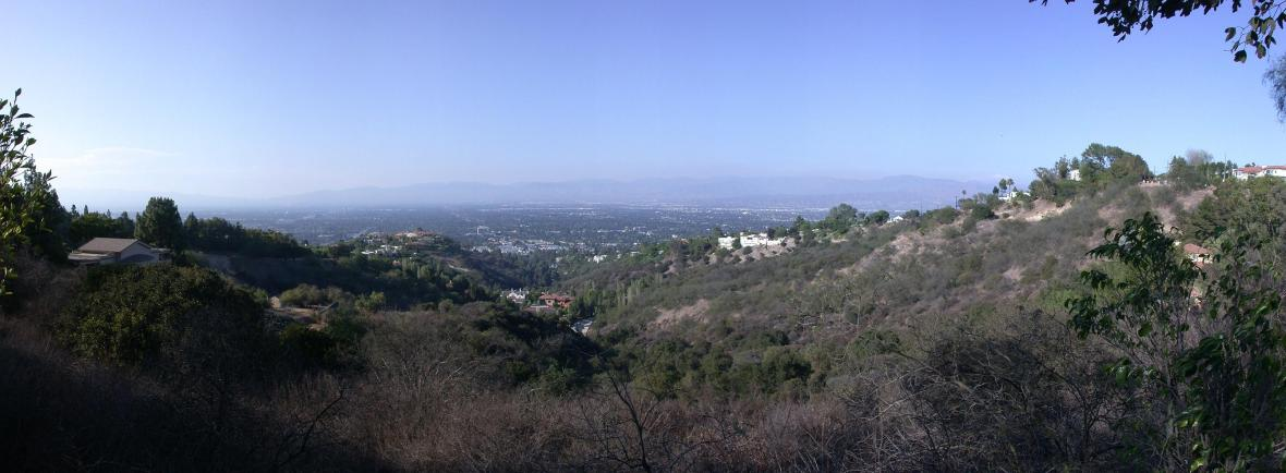 pan01-San Fernando Valley from Beverley Hills